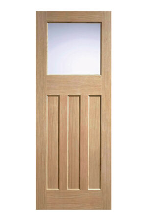 1930's Oak 4 Panel Glazed Internal Door