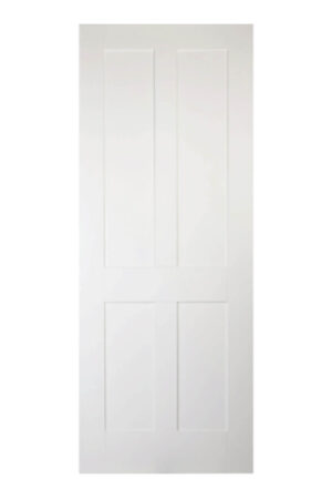 Victorian' Shaker Four Panel White Primed Internal Door