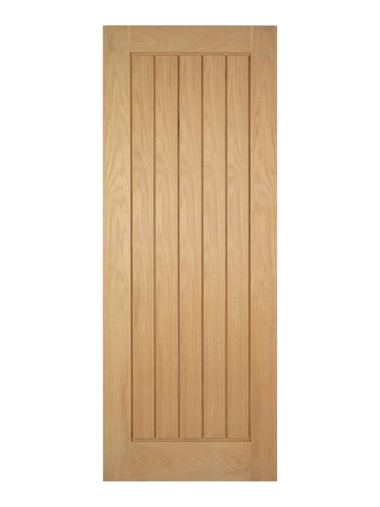 Unfinished Oak Mexicano Internal Door - Imperial Size