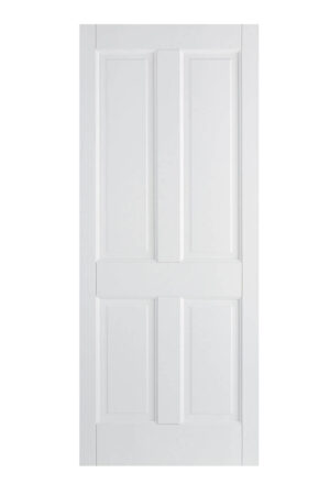 White Canterbury 4P FD30 Fire Door.