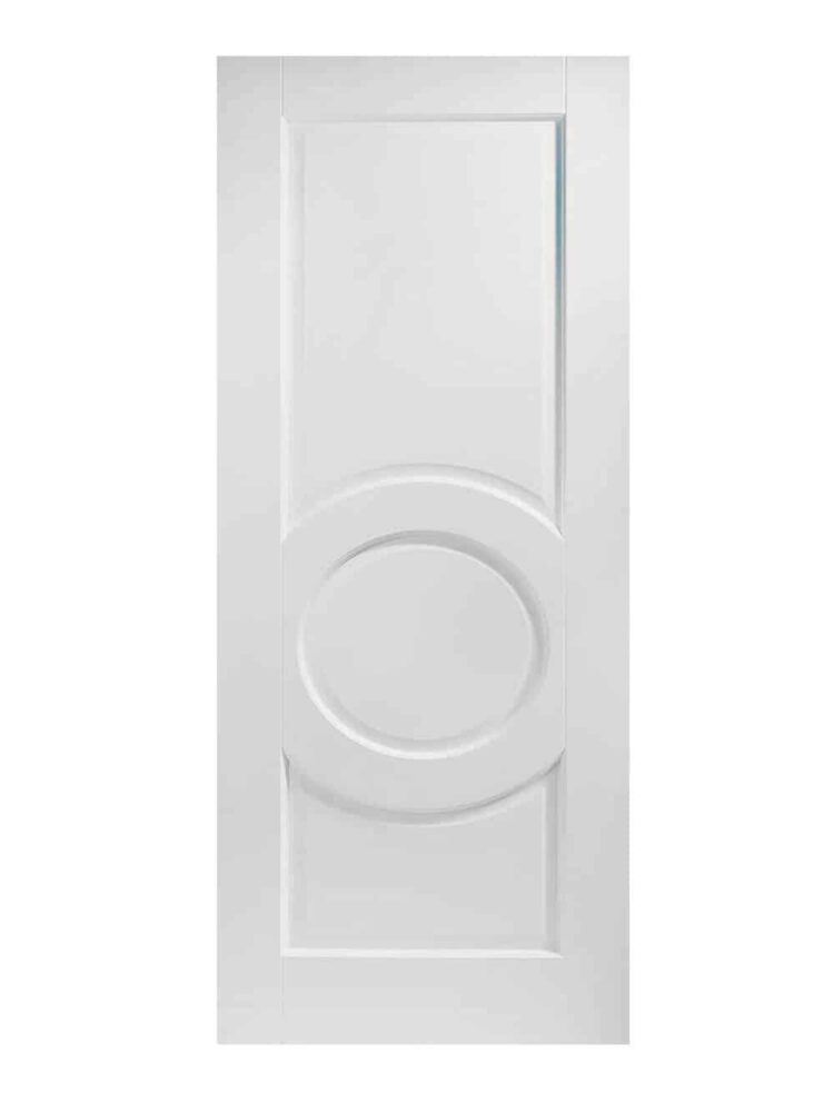 White Montpellier FD30 Fire Door.