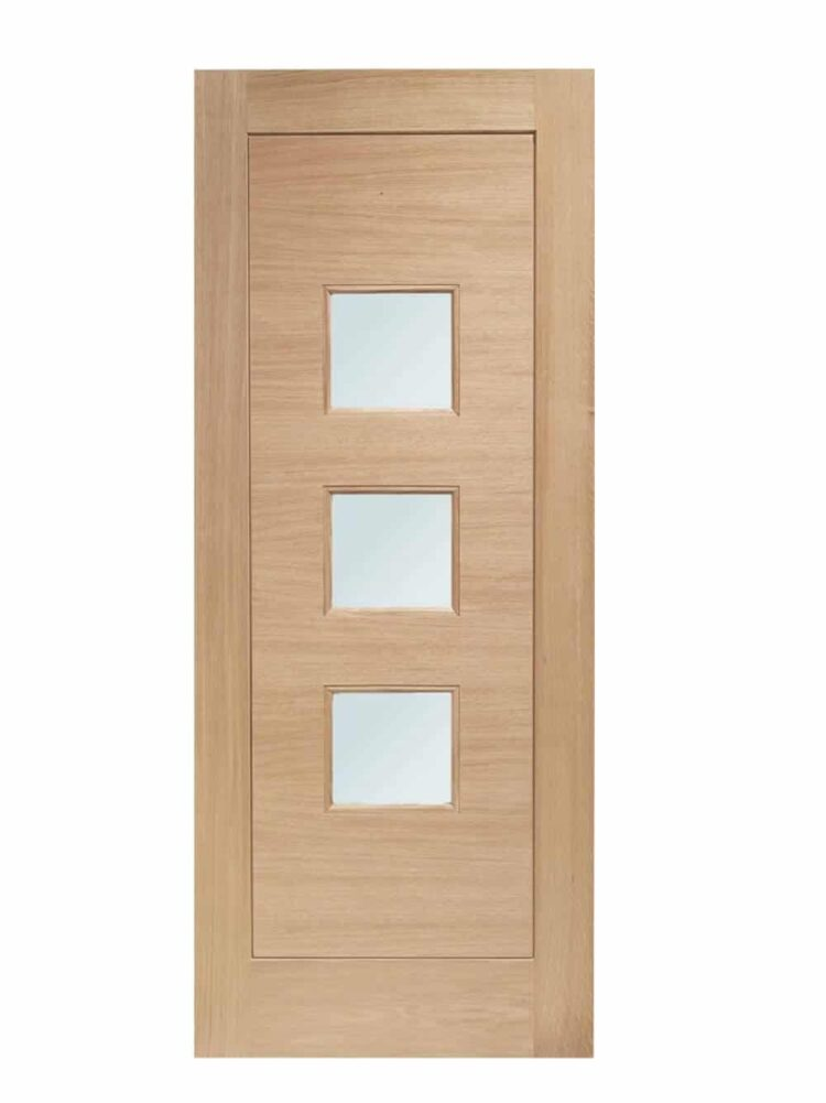 XL Joinery Turin Double Glazed External Oak Door (M&T) with Obscure Glass