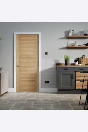 LPD Vancouver 5P Laminated Pre-finished Oak Internal FD30 Fire Door 3