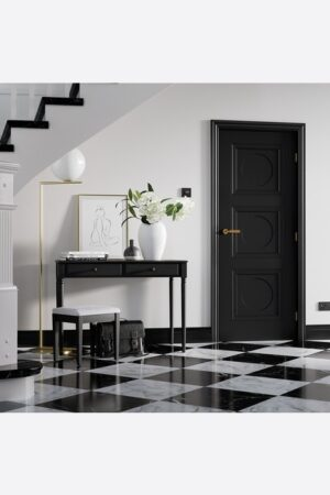 LPD Antwerp 3P Primed Black Internal Door 3