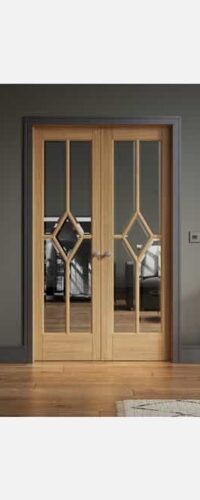 LPD Reims W4 Pre-finished Oak Clear Internal Room Divider 3