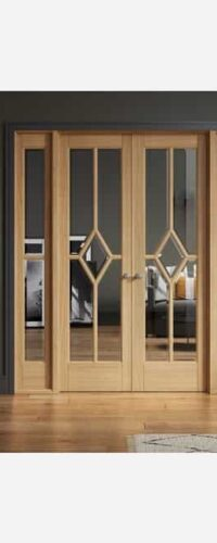 LPD Reims W6 Pre-finished Oak Clear Internal Room Divider 3