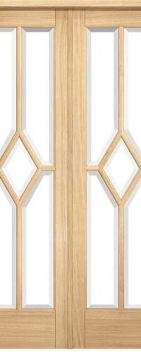 LPD Reims W6 Pre-finished Oak Clear Internal Room Divider 2