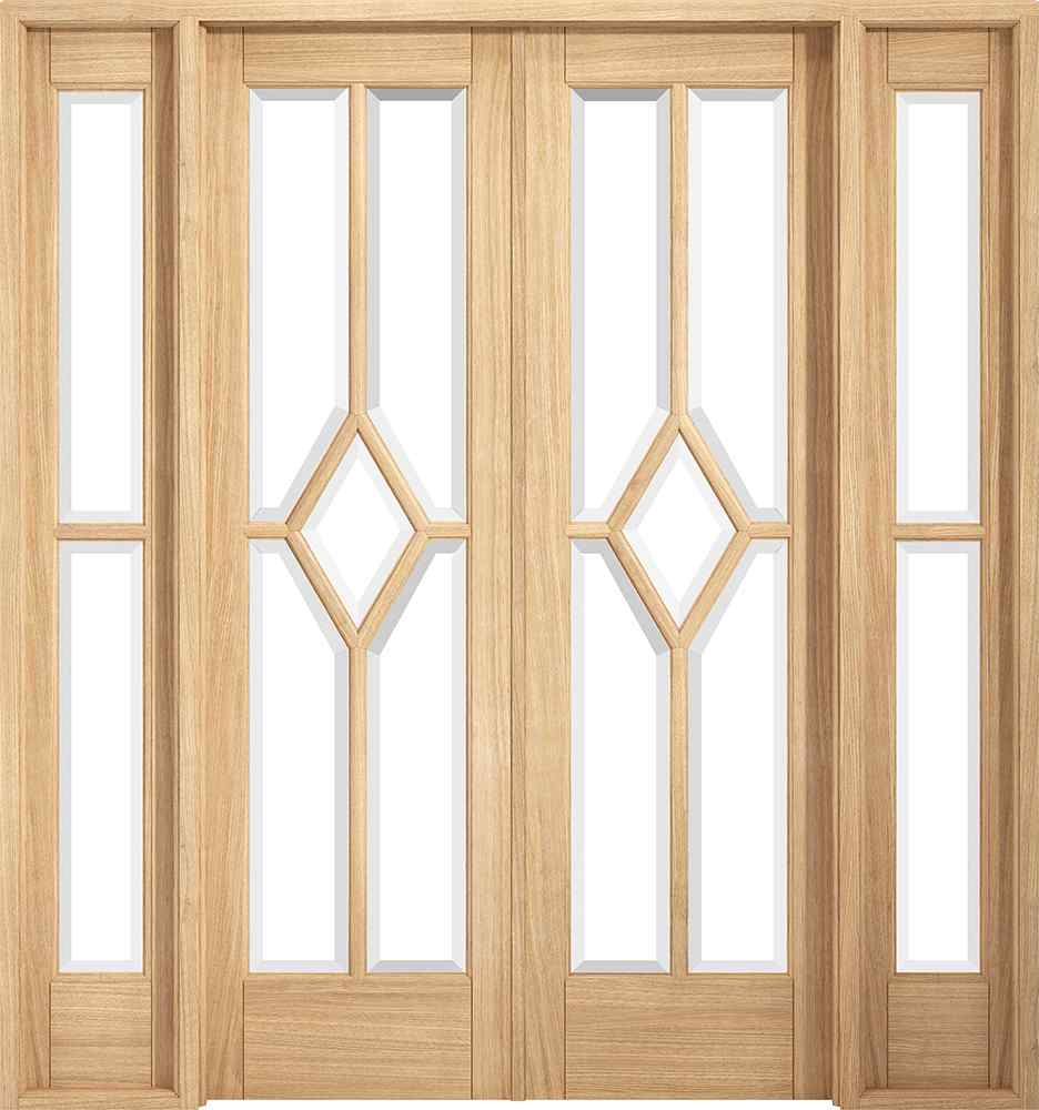 LPD Reims W6 Pre-finished Oak Clear Internal Room Divider 1