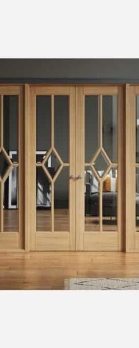 LPD Reims W8 Pre-finished Oak Clear Internal Room Divider 3