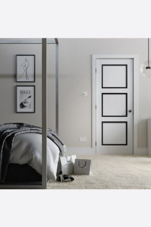 LPD Luxemburg 3P Pre-finished Black and White Internal FD30 Fire Door 3