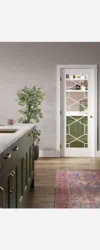 LPD Orly White Primed Clear Internal Glazed Door 3