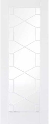 LPD Orly White Primed Clear Internal Glazed Door 2