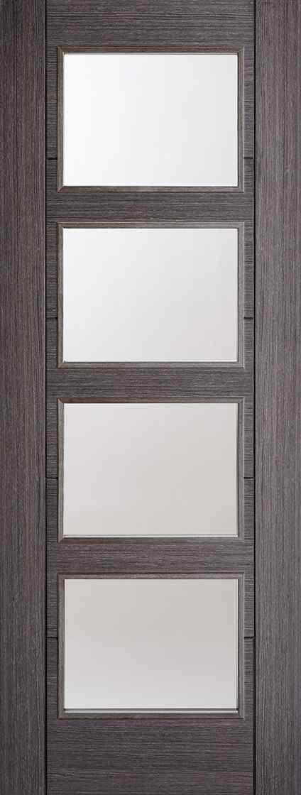LPD Vancouver 4L Pre-Finished Ash Grey Clear Glass Internal Door 1