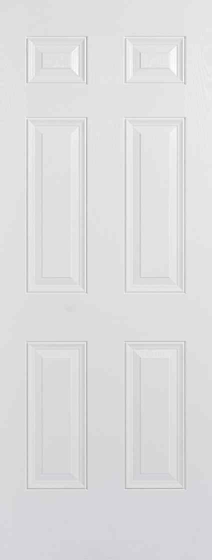 LPD Colonial 6P Pre-Finished White External Composite Door 1