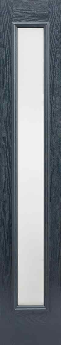 LPD Sidelight 1L Pre-Finished Anthracite Grey Frosted Double Glazed External Composite Door 1