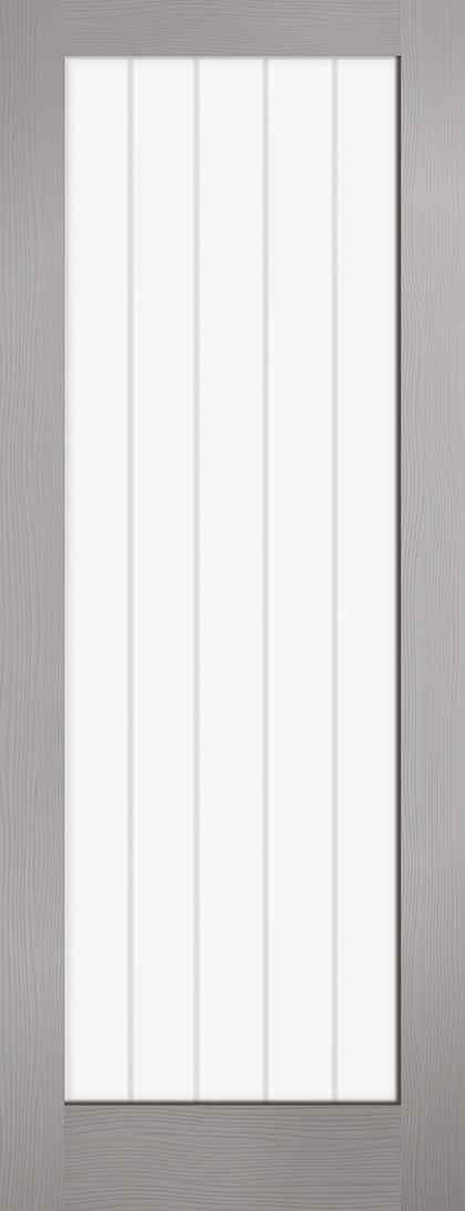 LPD Vertical 1L Pre-Finished Grey Clear Glass Internal Glazed Door 1