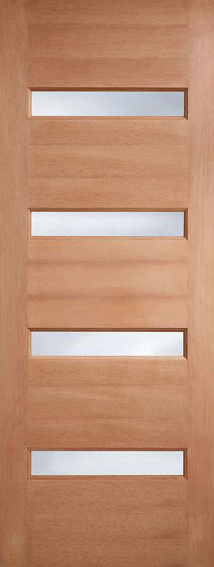 LPD Balham Frosted Glazed Hardwood M&T Frosted Double Glass External Door 1