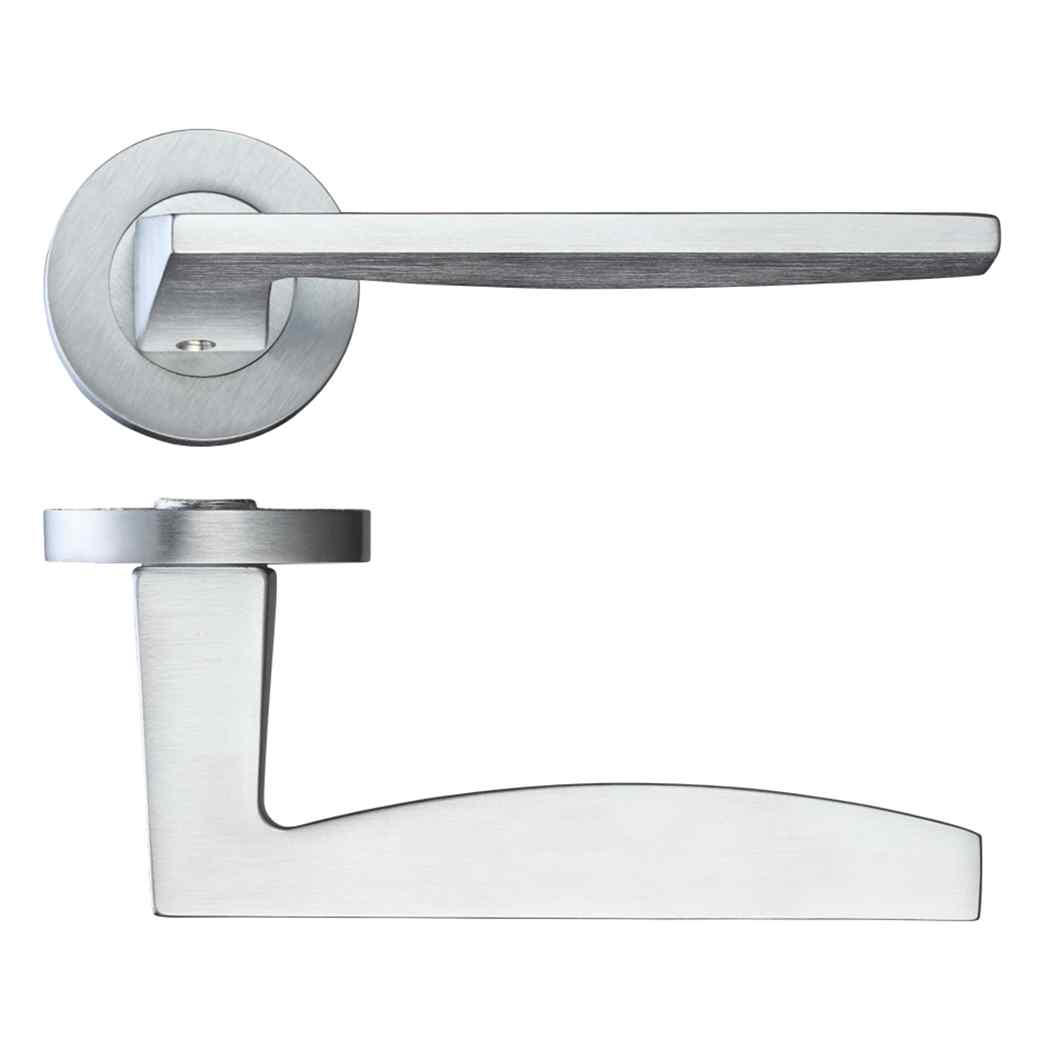 Ironmongery Crux Satin Chrome Privacy Handle Hardware Pack