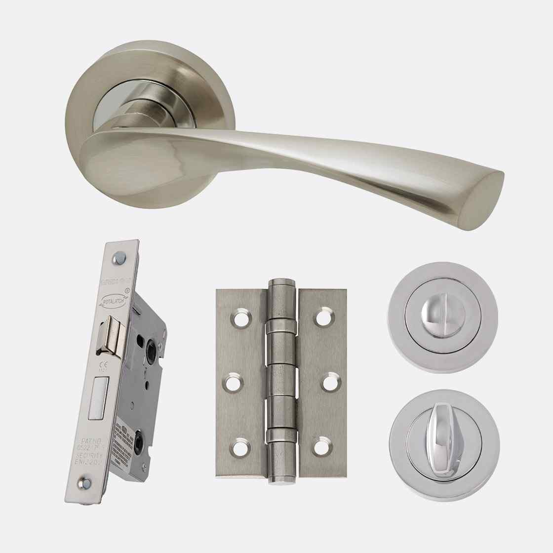 LPD Ironmongery Solar Privacy Handle Hardware Pack 1