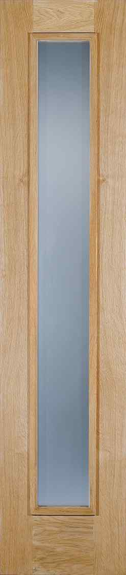 LPD Sidelight 1L Frosted Unfinished Oak 1L Frosted Double Glazed Unit External Door 1