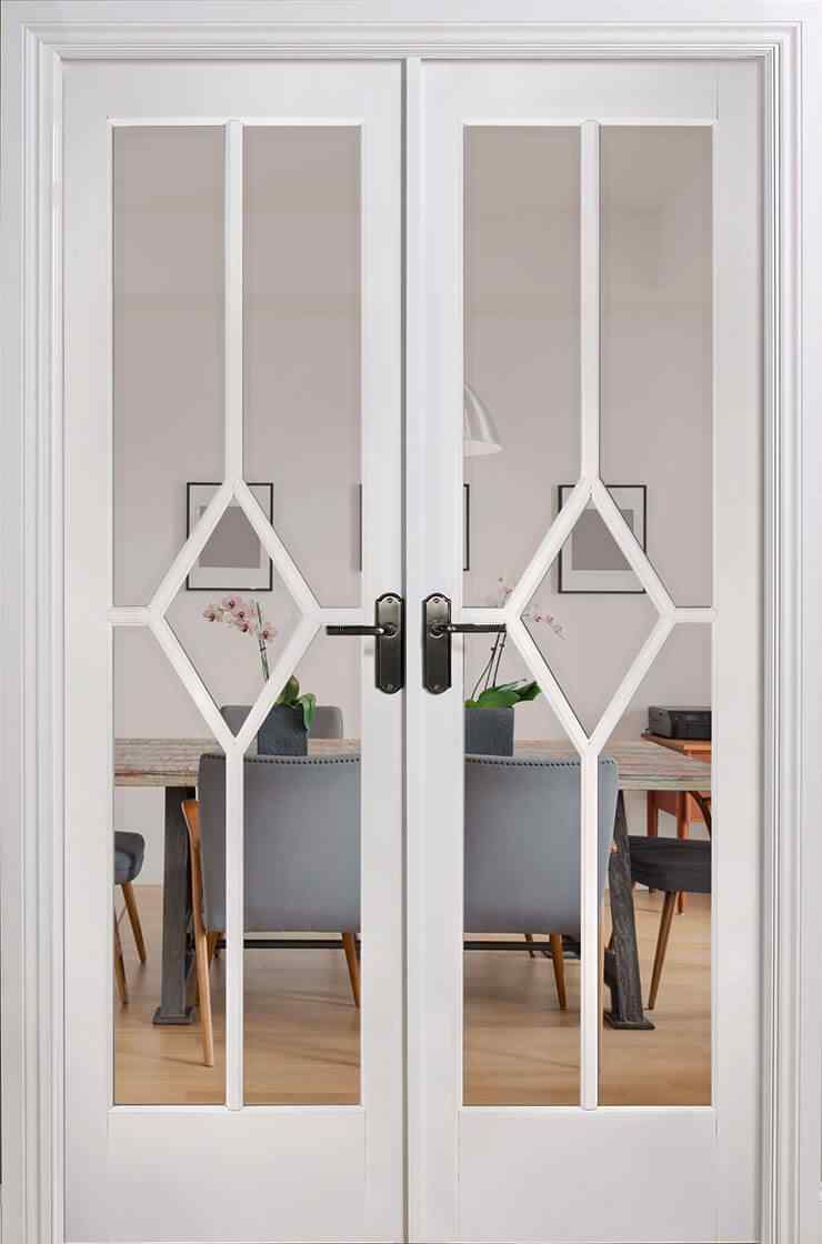 LPD Reims W4 White Primed Clear Bevelled Internal Room Divider 1