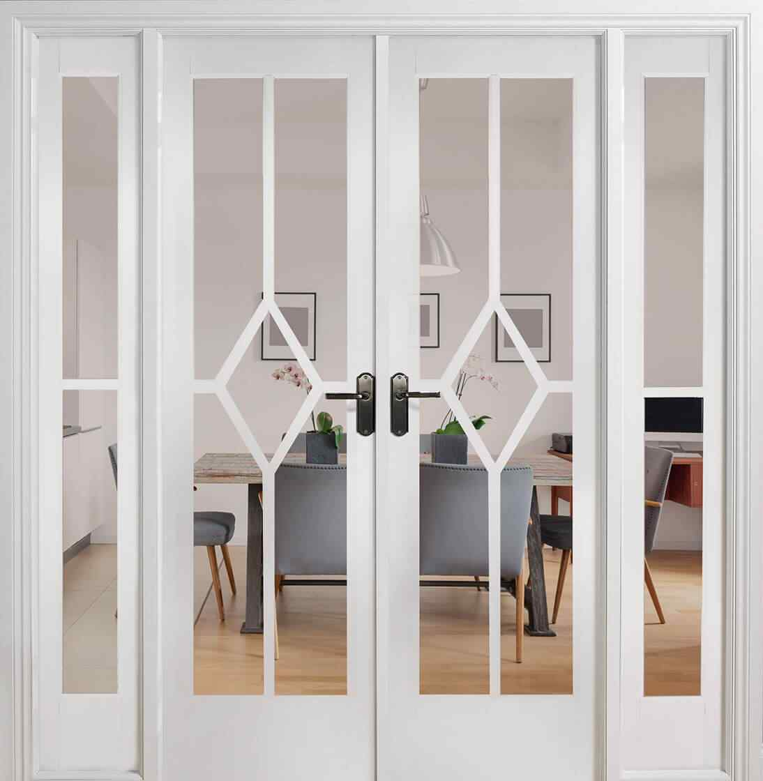 LPD Reims W6 White Primed Clear Bevelled Internal Room Divider 1