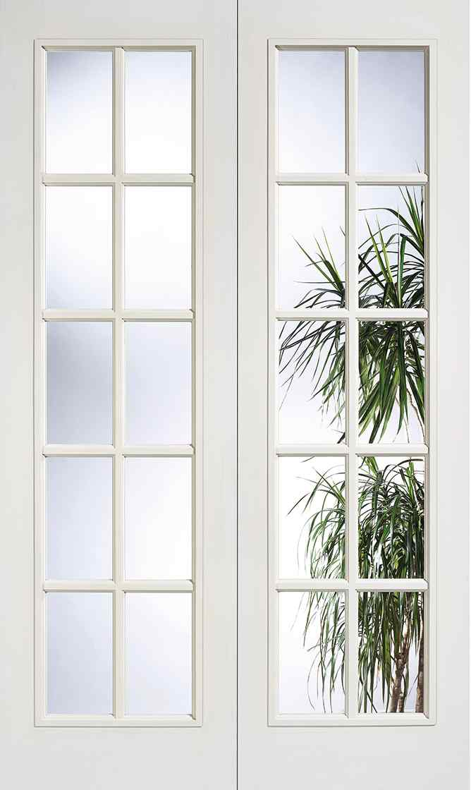 LPD SA 20L Pair White Primed 20 Light Clear Internal French Door 1